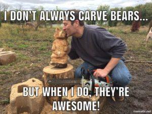 Bob Ward - Chainsaw Artist - Colony Carvers - Amana, Iowa