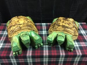 Chainsaw Turtles - Carving by Bob Ward - Colony Carvers - Amana, Iowa