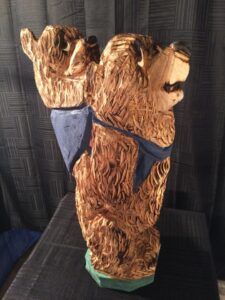 Backpacking Bears - Chainsaw Carving by Bob Ward