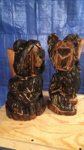 Boblo Picasso Chainsaw Carvings by Bob Ward