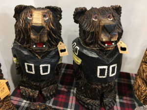 Football Bears - Iowa Hawkeyes - Chainsaw Carving by Bob Ward - 1200x900