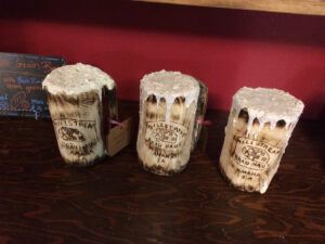 Frosty Mugs for Millstream Brewery - Chainsaw Carving by Bob Ward - Colony Carvers - Amana, Iowa - 1200x900