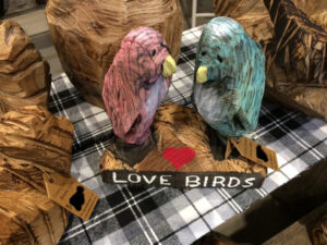 Love Birds - Chainsaw Carving by Bob Ward - Colony Carvers - Amana, Iowa - 960x720