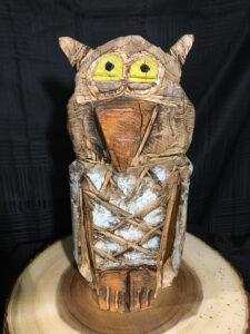 Owl Chainsaw Carving by Bob Ward - 900x1200